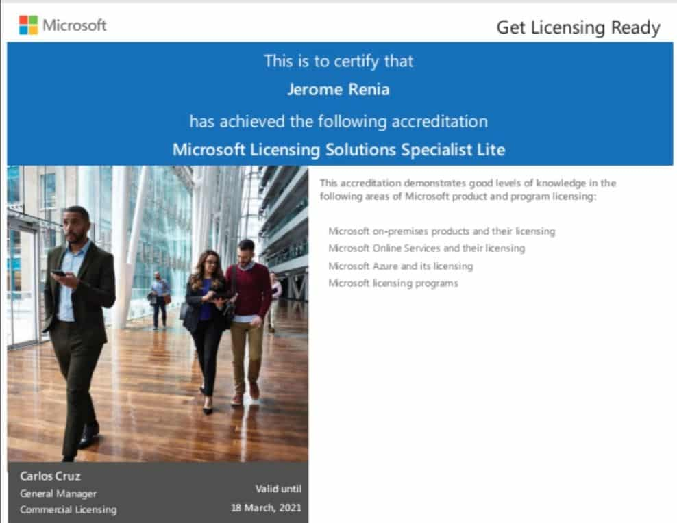 Microsoft Licensing Solutions Specialist Lite